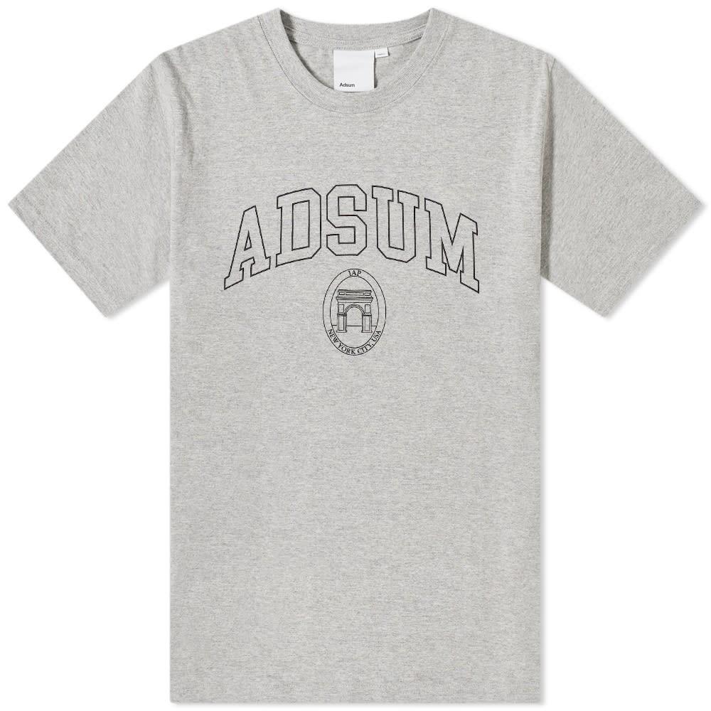 ADSUM パーク Tシャツ ヘザー GRAY灰色 グレイ 【 HEATHER GREY ADSUM SQUARE PARK TEE 】 メンズファッション トップス Tシャツ カットソー