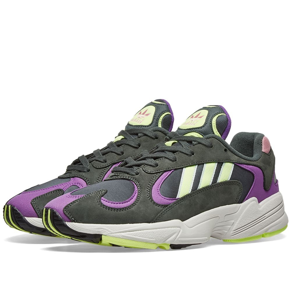アディダス ADIDAS スニーカー メンズ 【 Yung 1 Watermelon 】 Legend Ivy, Yellow & Purple