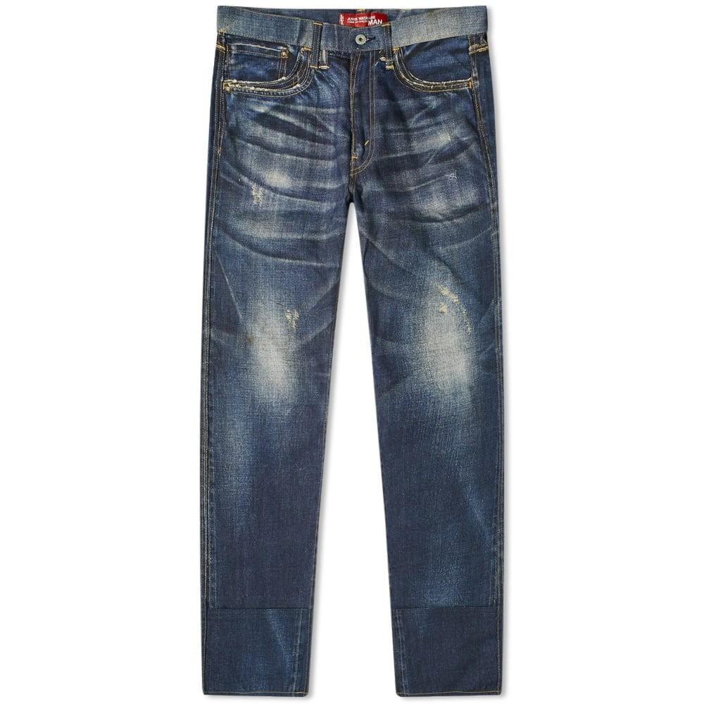 JUNYA WATANABE MAN 藍色 インディゴ LEVI'S 【 JUNYA WATANABE MAN X DAMAGED JEAN INDIGO 】 メンズファッション ズボン パンツ