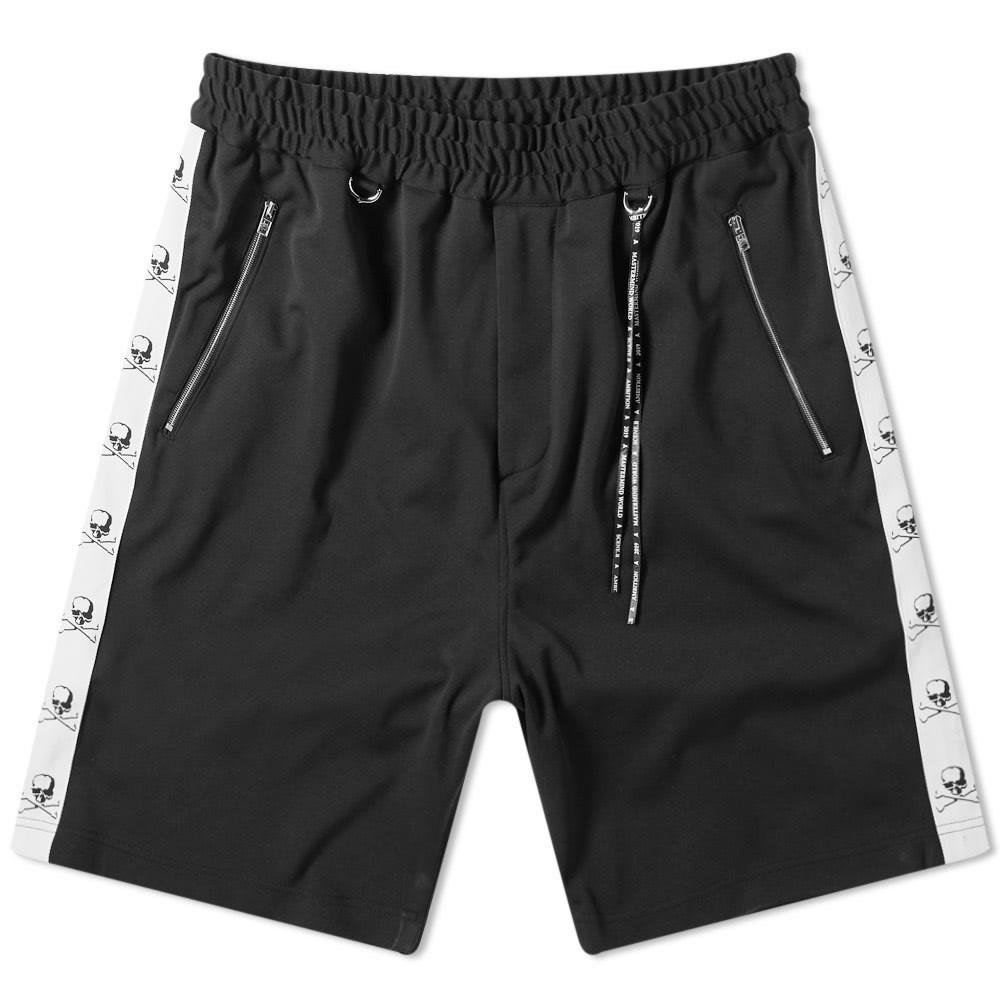 MASTERMIND WORLD 白 ホワイト & 【 WHITE SKULL TAPED SHORT BLACK TAPE 】 メンズファッション ズボン パンツ 送料無料