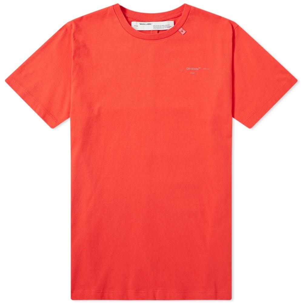 【スーパーセール商品 12/4-12/11】OFF-WHITE スリム 【 SLIM OFFWHITE UNFINISHED 3M ARROWS TEE RED 】 メンズファッション トップス Tシャツ カットソー 送料無料