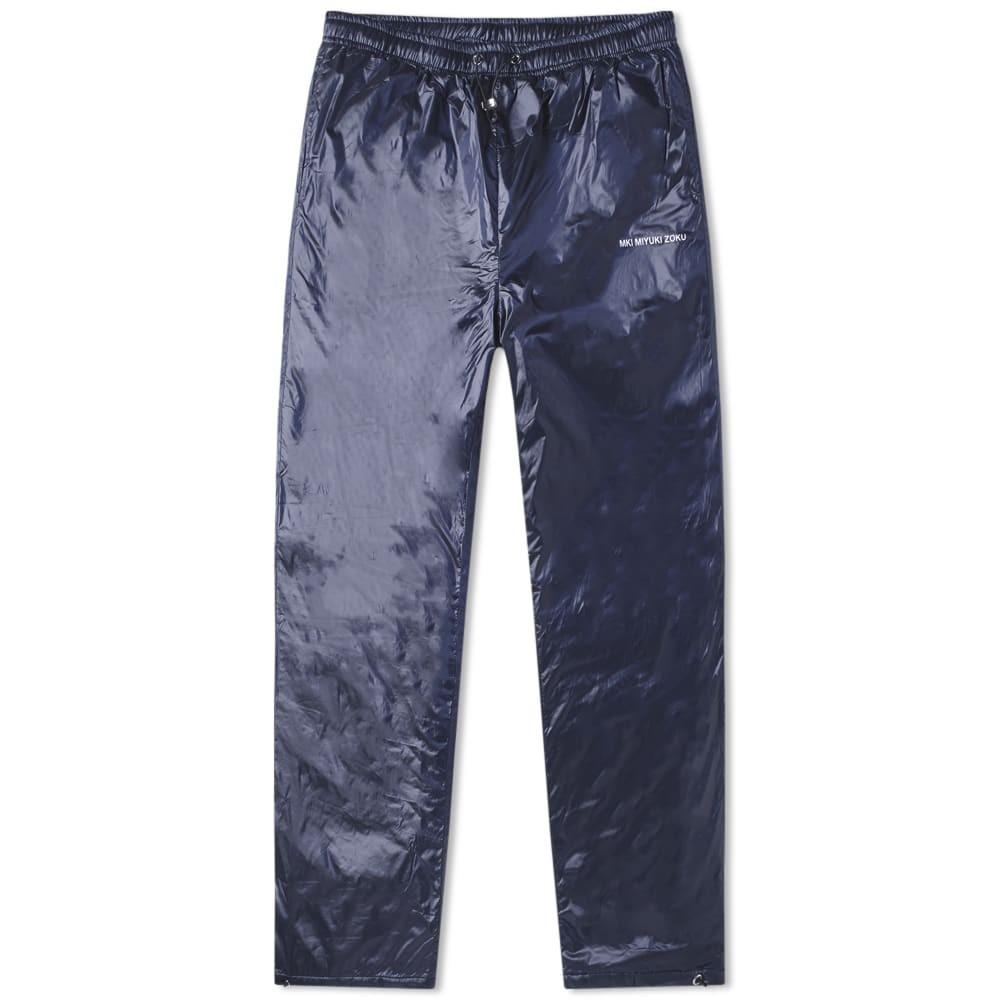 MKI パッド ナイロン トラック パンツ 紺 ネイビー 【 PADDED NAVY MKI NYLON TRACK PANT 】 メンズファッション ズボン パンツ
