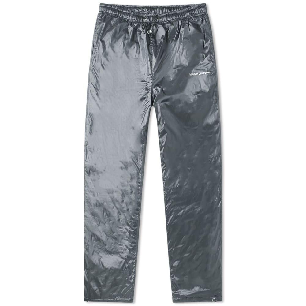 MKI パッド ナイロン トラック パンツ メンズファッション ズボン メンズ 【 Padded Nylon Track Pant 】 Steel Grey