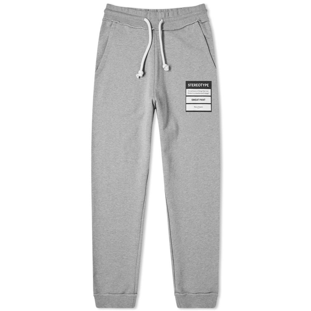 MAISON MARGIELA スウェット 【 SWEAT 14 STEREOTYPE PANT GREY MELANGE 】 メンズファッション ズボン パンツ 送料無料