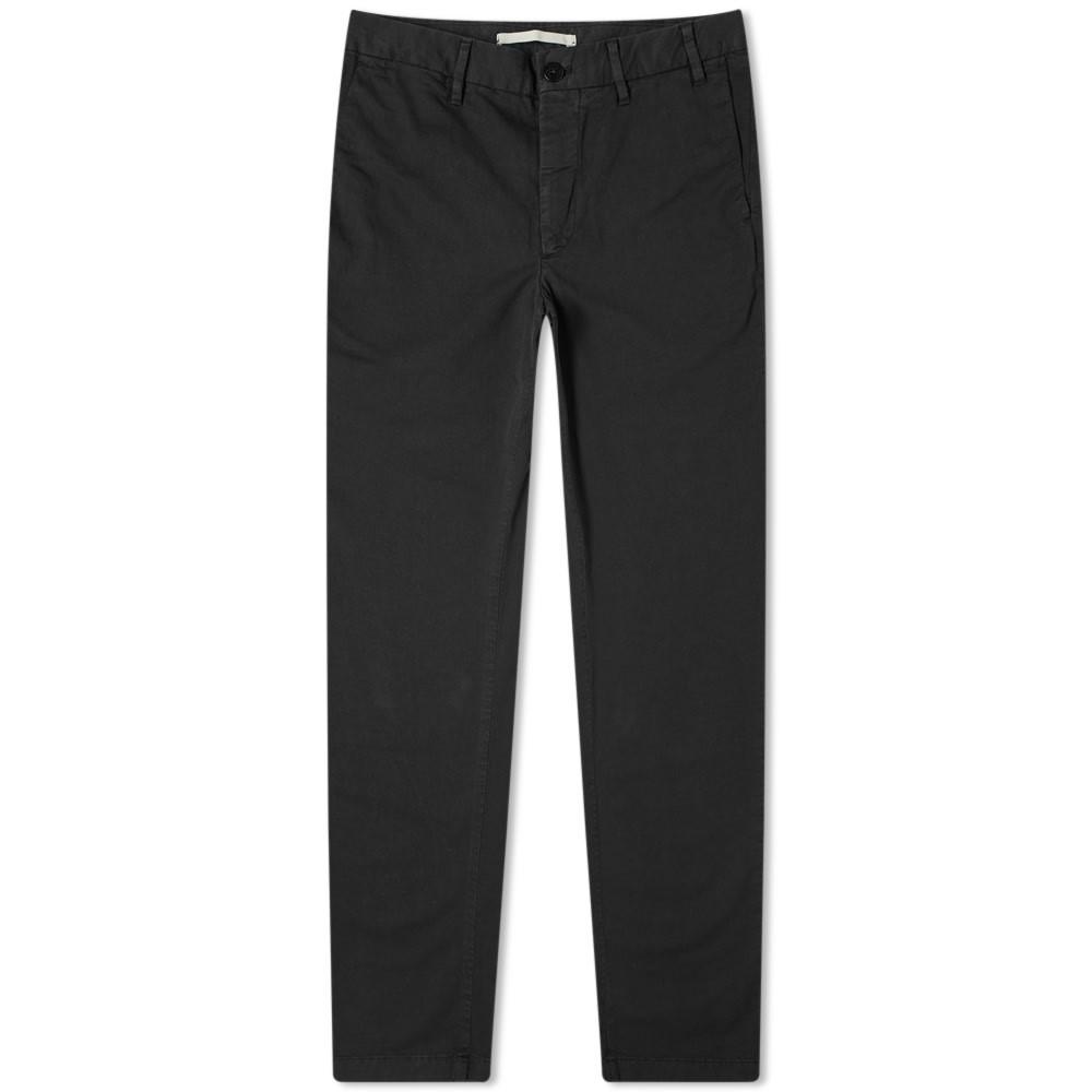 NORSE PROJECTS スリム チノ 黒 ブラック 【 SLIM BLACK NORSE PROJECTS AROS LIGHT STRETCH CHINO 】 メンズファッション ズボン パンツ