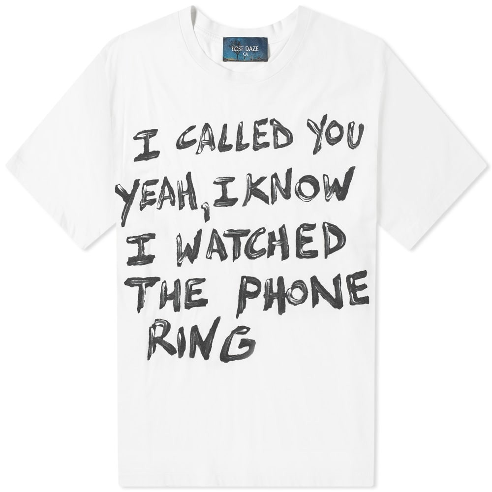 LOST DAZE 【 I CALLED YOU TEE VINTAGE WHITE 】 メンズファッション トップス Tシャツ カットソー 送料無料