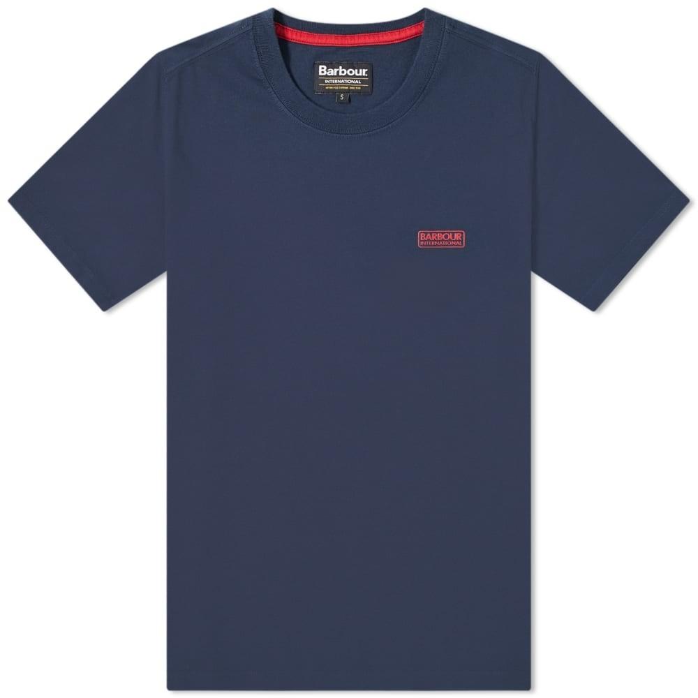 バブアー BARBOUR ロゴ Tシャツ メンズファッション トップス カットソー メンズ 【 International Small Logo Tee 】 Navy