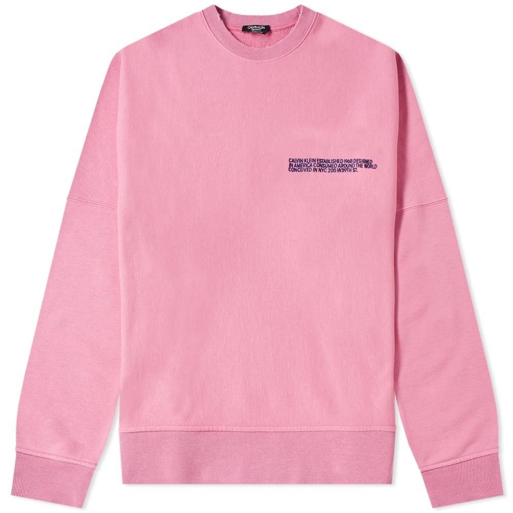 CALVIN KLEIN 205W39NYC ロゴ クラシック スウェット メンズファッション トップス トレーナー メンズ 【 Embroidered Logo Classic Crew Sweat 】 Dark Anemone