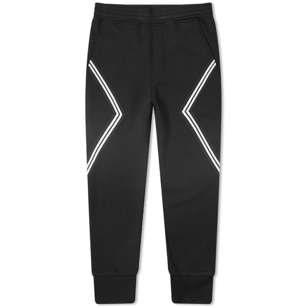 NEIL BARRETT トラック パンツ 黒 ブラック 【 BLACK NEIL BARRETT MODERNIST TAPING TRACK PANT 】 メンズファッション ズボン パンツ