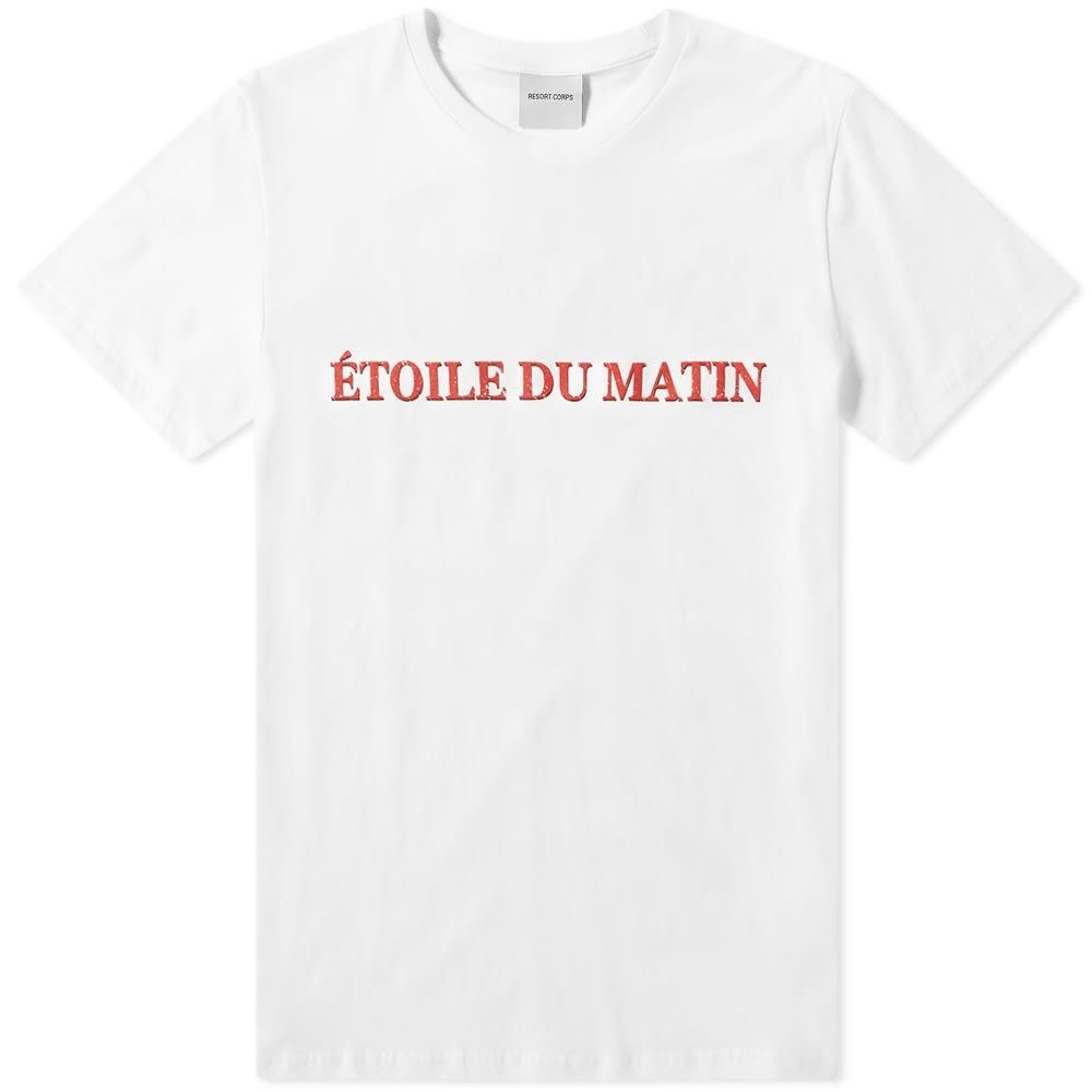 RESORT CORPS Tシャツ 白 ホワイト 【 WHITE RESORT CORPS ETOILE DU MATIN TEE 】 メンズファッション トップス Tシャツ カットソー