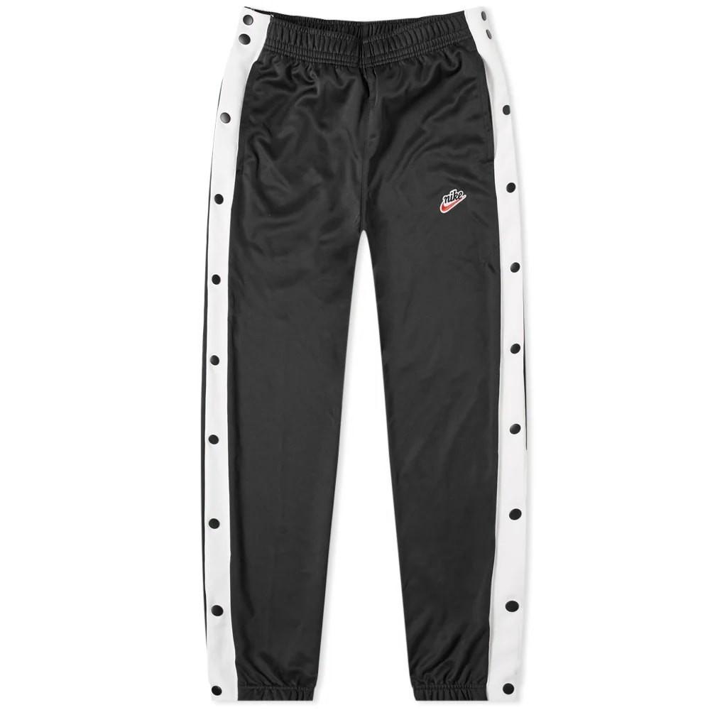ナイキ NIKE パンツ 黒 ブラック 白 ホワイト & 【 BLACK WHITE NIKE HERITAGE POPPER PANT 】 メンズファッション ズボン パンツ