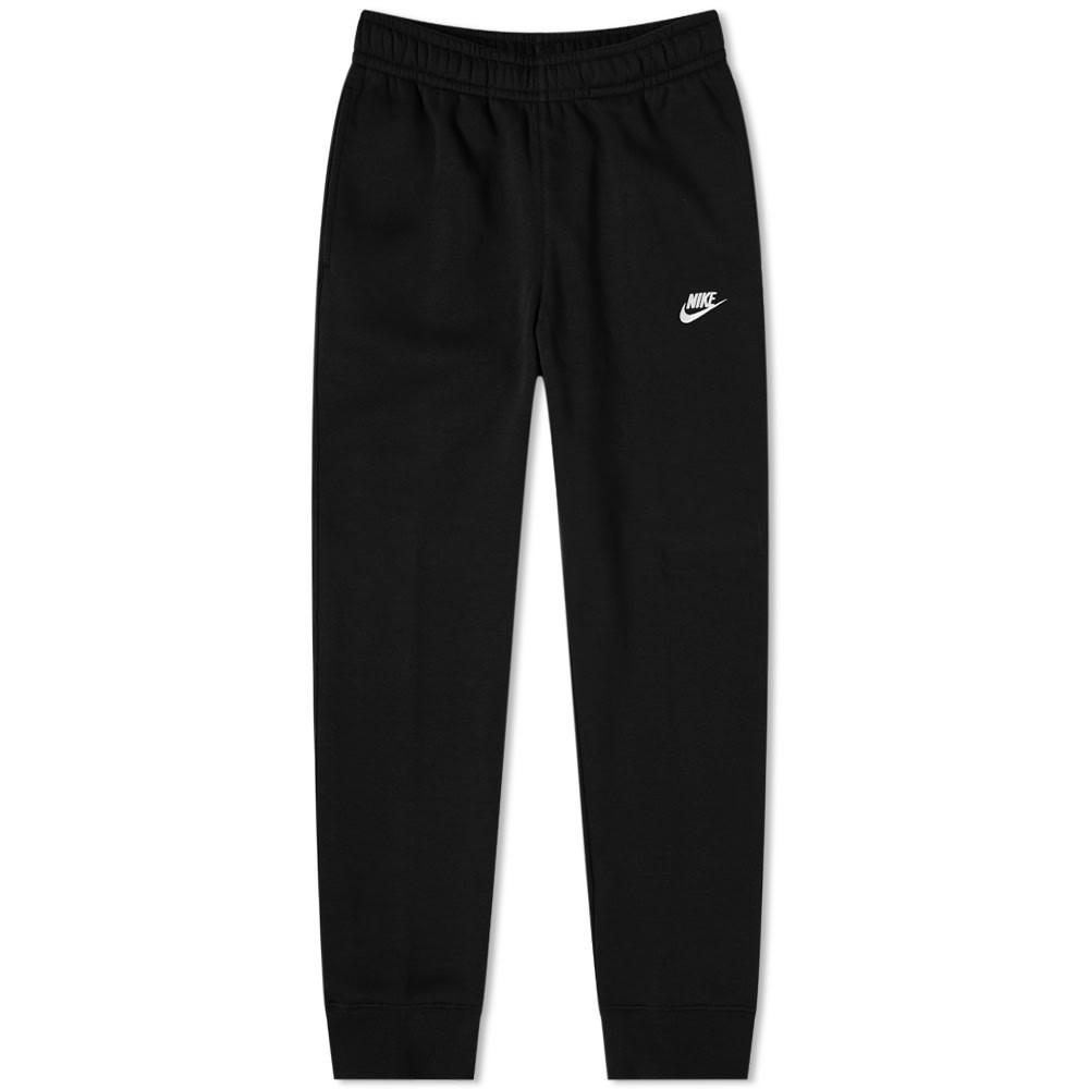 ナイキ NIKE クラブ スウェット パンツ 黒 ブラック 白 ホワイト & 【 SWEAT BLACK WHITE NIKE CLUB PANT 】 メンズファッション ズボン パンツ
