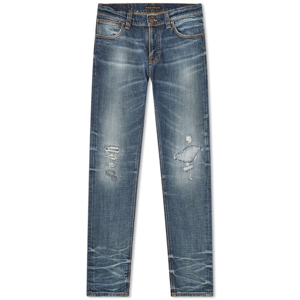 NUDIE JEANS CO メンズファッション ズボン パンツ メンズ 【 Nudie Tight Terry Jean 】 Worn Repaired