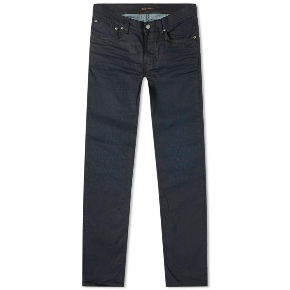 NUDIE JEANS CO 黒 ブラック 【 BLACK THIN FINN JEAN WORN COATED 】 メンズファッション ズボン パンツ 送料無料