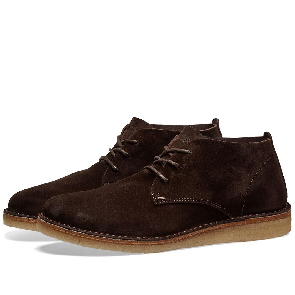 ASTORFLEX スエード スウェード ブーツ メンズ 【 Ettoflex Wedge Sole Suede Boot 】 Brown