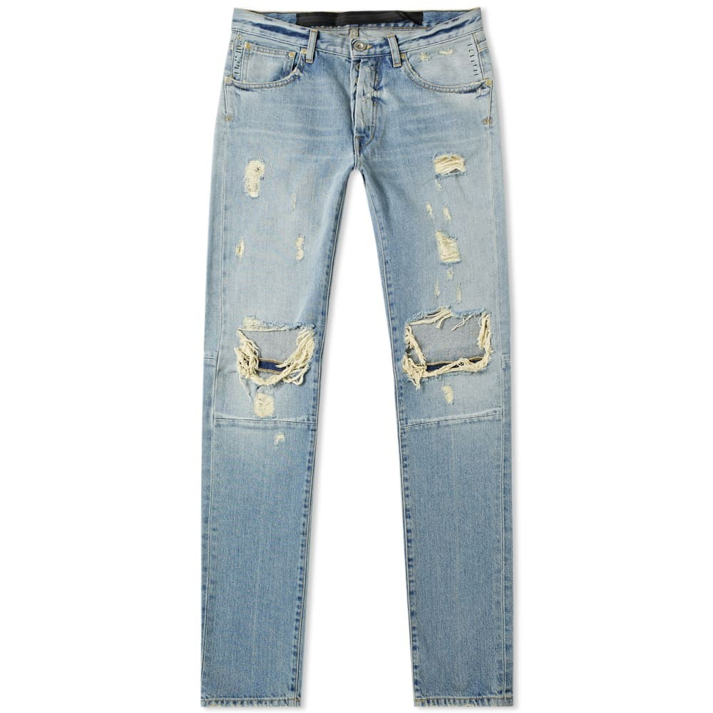 UNRAVEL PROJECT 【 DISTRESSED SKINNY JEAN WASHED BLUE 】 メンズファッション ズボン パンツ 送料無料