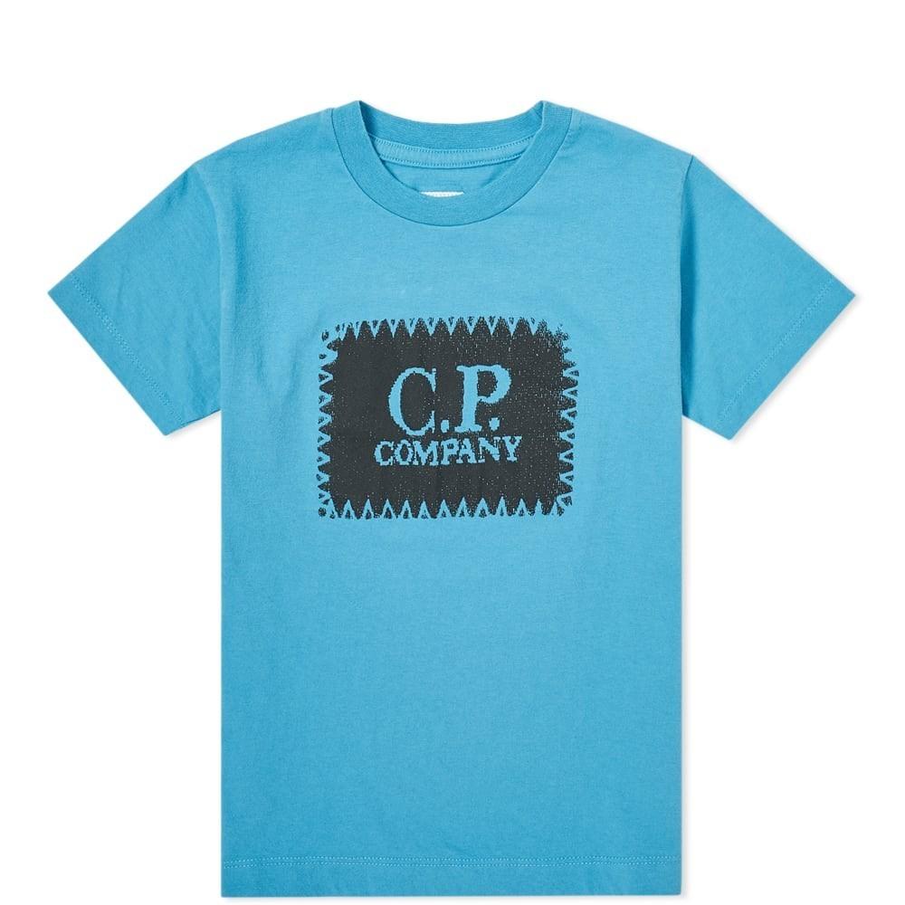 C.P. COMPANY UNDERSIXTEEN ロゴ Tシャツ 青 ブルー C.P. 【 BLUE COMPANY UNDERSIXTEEN PATCH LOGO TEE 】 メンズファッション トップス Tシャツ カットソー
