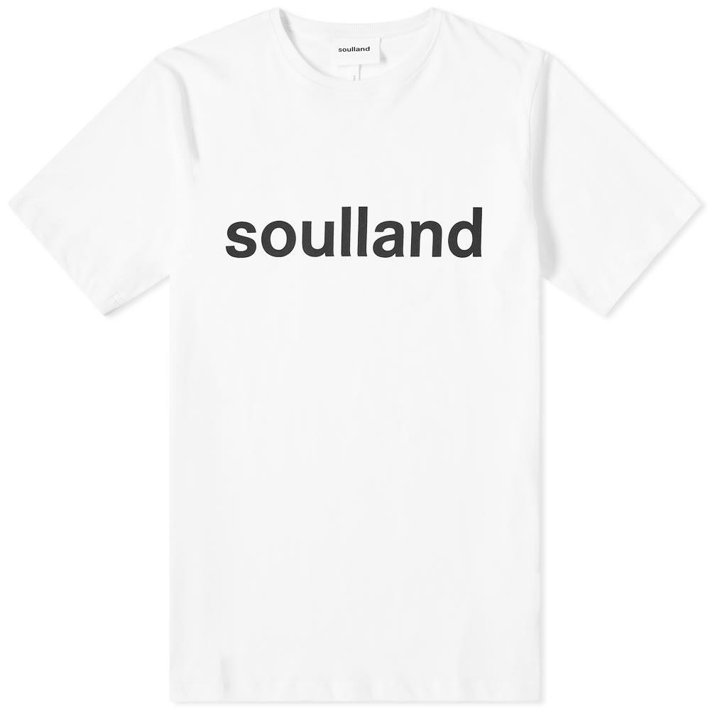SOULLAND ロゴ 【 LOGIC LOGO TEE WHITE 】 メンズファッション トップス Tシャツ カットソー 送料無料
