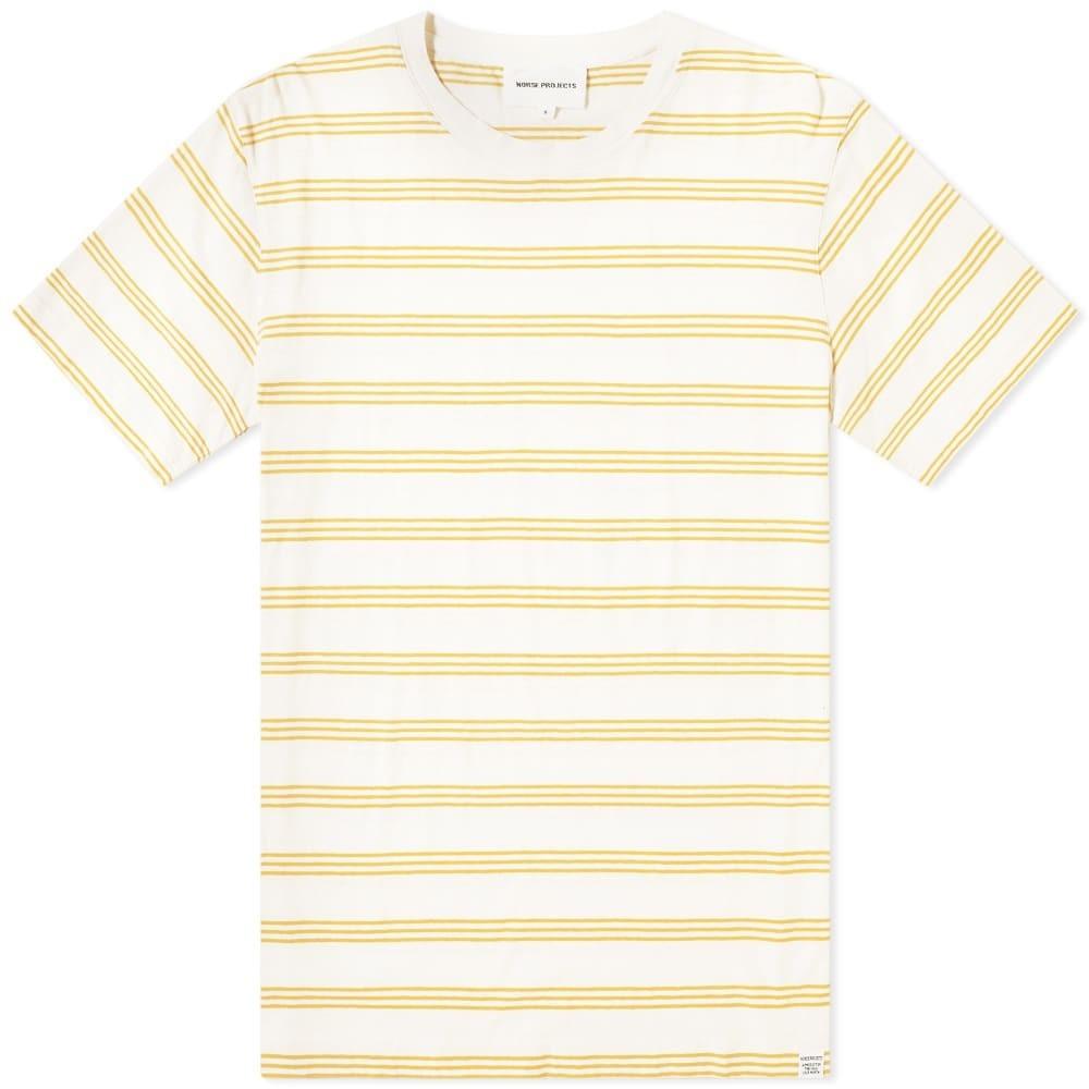 NORSE PROJECTS ストライプ Tシャツ メンズファッション トップス カットソー メンズ 【 Johannes Cotton Linen Stripe Tee 】 Sunrise Yellow