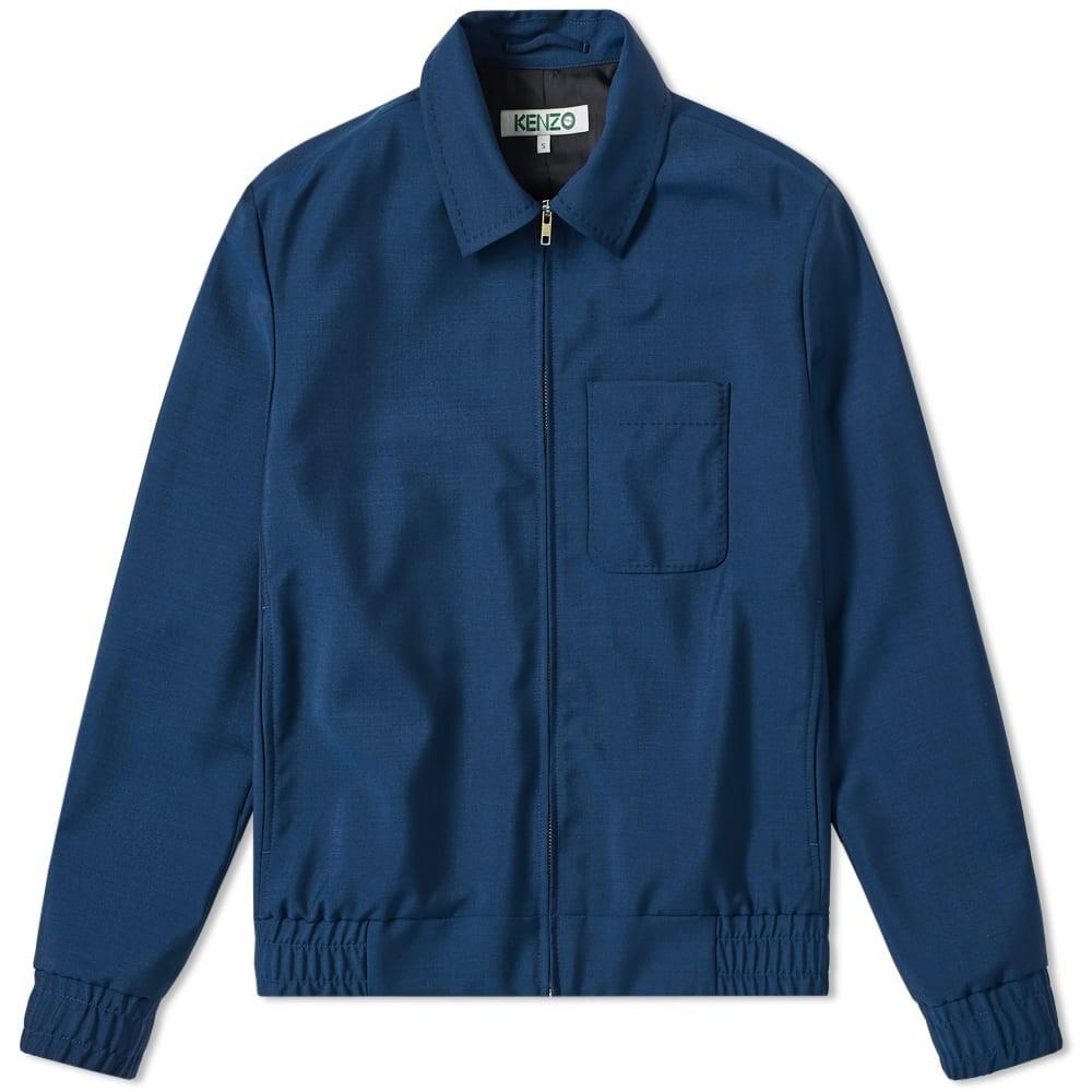 KENZO 青 ブルー 【 BLUE KENZO WOOL MOHAIR BLOUSON 】 メンズファッション コート ジャケ