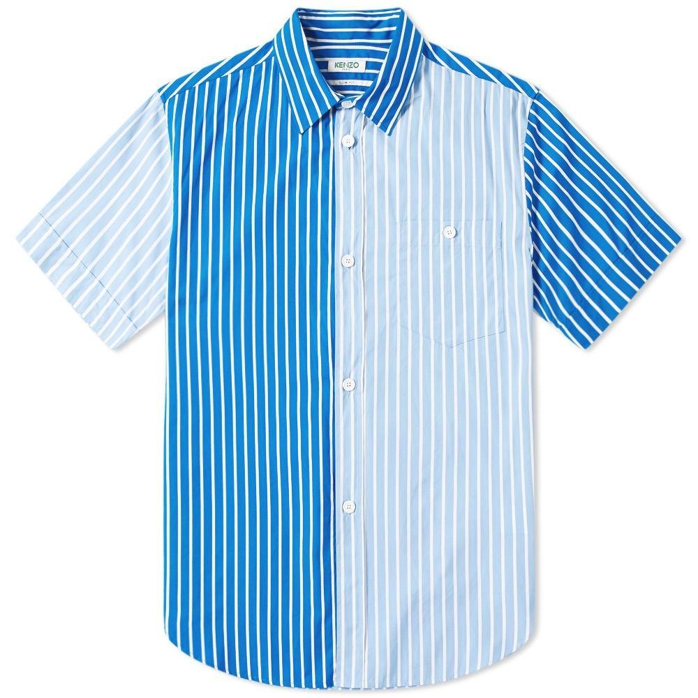 KENZO スリーブ ストライプ 【 SLEEVE STRIPE SHORT MULTI SHIRT BLUE SKY 】 メンズファッション トップス カジュアルシャツ 送料無料