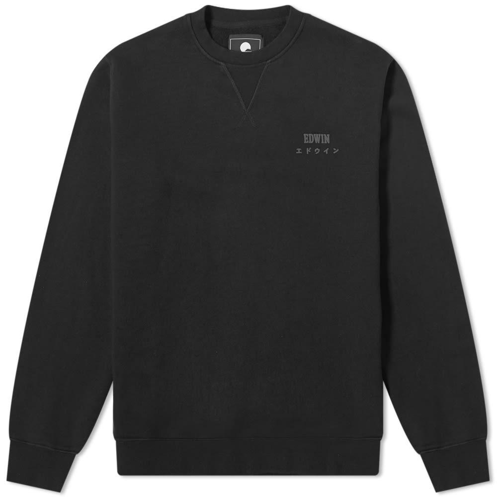 エドウィン EDWIN 【 BASE CREW SWEAT BLACK 】 メンズファッション トップス スウェット トレーナー 送料無料