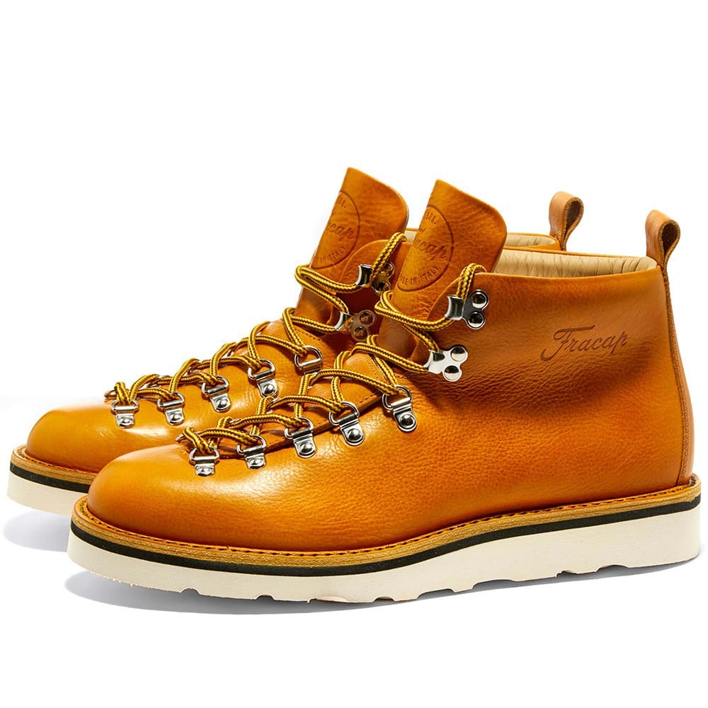 FRACAP 【 M120 CRISTY VIBRAM SOLE SCARPONCINO BOOT MUSTARD 】 メンズ ブーツ 送料無料