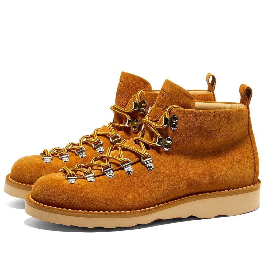 FRACAP ナチュラル ブーツ メンズ 【 M120 Natural Vibram Sole Scarponcino Boot 】 Camel Suede