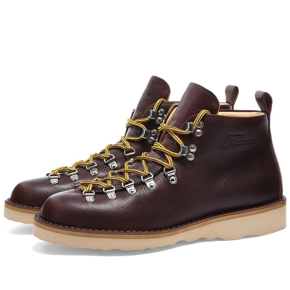 FRACAP ナチュラル ブーツ メンズ 【 M120 Natural Vibram Sole Scarponcino Boot 】 Dark Brown