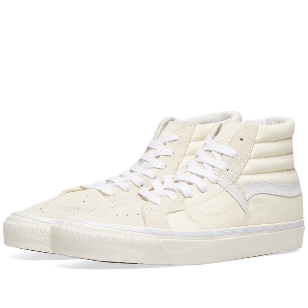 VANS VAULT スニーカー メンズ 【 Sk8-hi Bricolage Lx 】 Classic White & Marshmallow