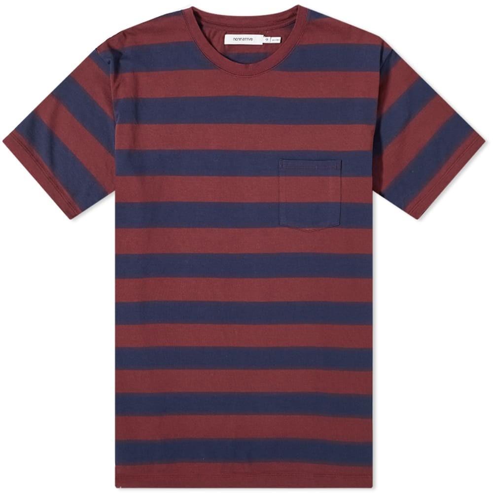 NONNATIVE ストライプ Tシャツ メンズファッション トップス カットソー メンズ 【 Dweller Wide Stripe Tee 】 Navy & Bordeaux