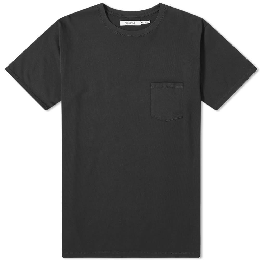 【スーパーセール中! 6/11深夜2時迄】NONNATIVE Tシャツ メンズファッション トップス カットソー メンズ 【 Dweller Heavy Pocket Tee 】 Black