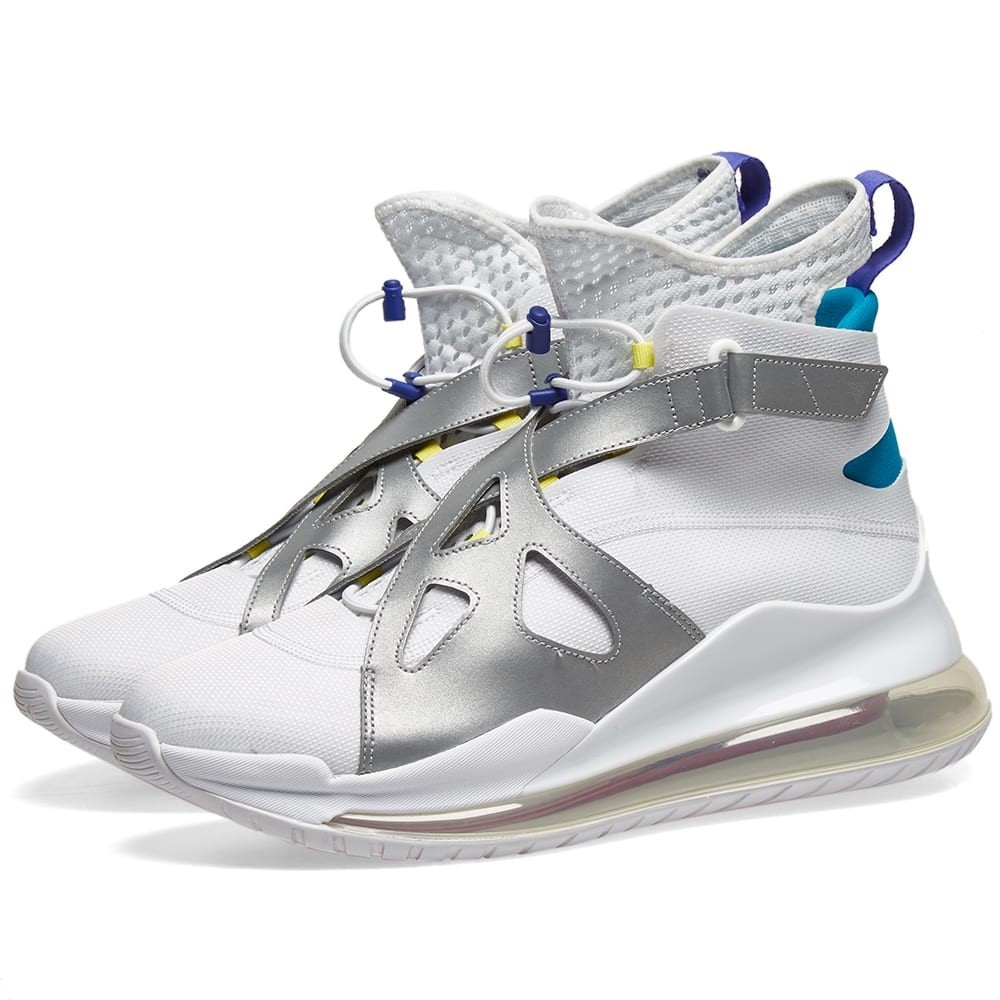 NIKE JORDAN エア スニーカー レディース 【 Air Jordan Latitude 720 W 】 White, Dynamic Yellow & Silver