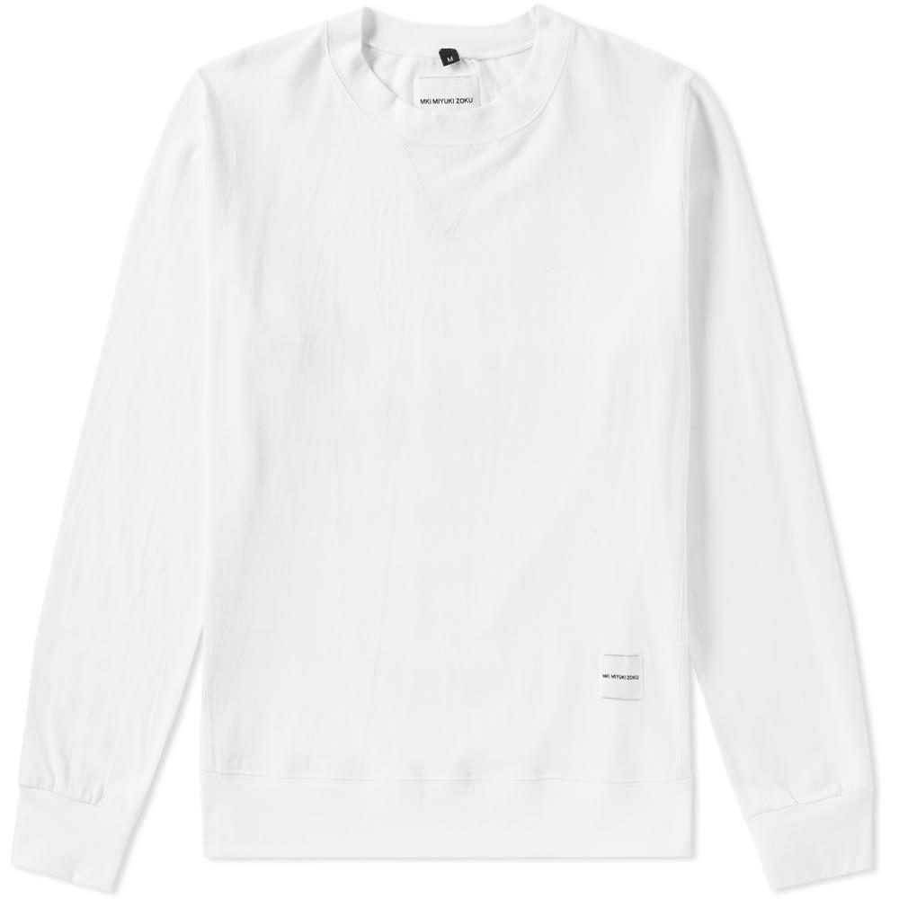 MKI ジャージ トラック 【 SINGLE JERSEY TRACK SWEAT WHITE 】 メンズファッション トップス スウェット トレーナー 送料無料