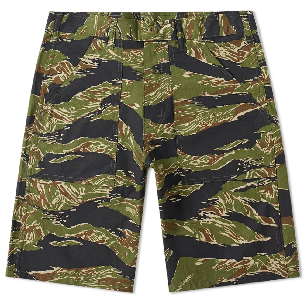 STAN RAY 緑 グリーン ストライプ 【 GREEN STRIPE STAN RAY FATIGUE SHORT TIGER 】 メンズファッション ズボン パンツ