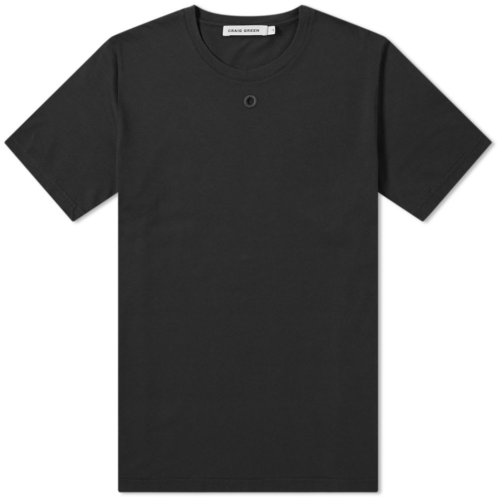 CRAIG GREEN Tシャツ メンズファッション トップス カットソー メンズ 【 Embroidered Hole Tee 】 Black