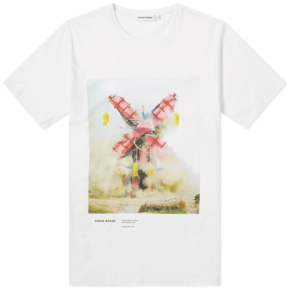 CRAIG GREEN Tシャツ メンズファッション トップス カットソー メンズ 【 Print Campaign Tee 】 Pink Explosion