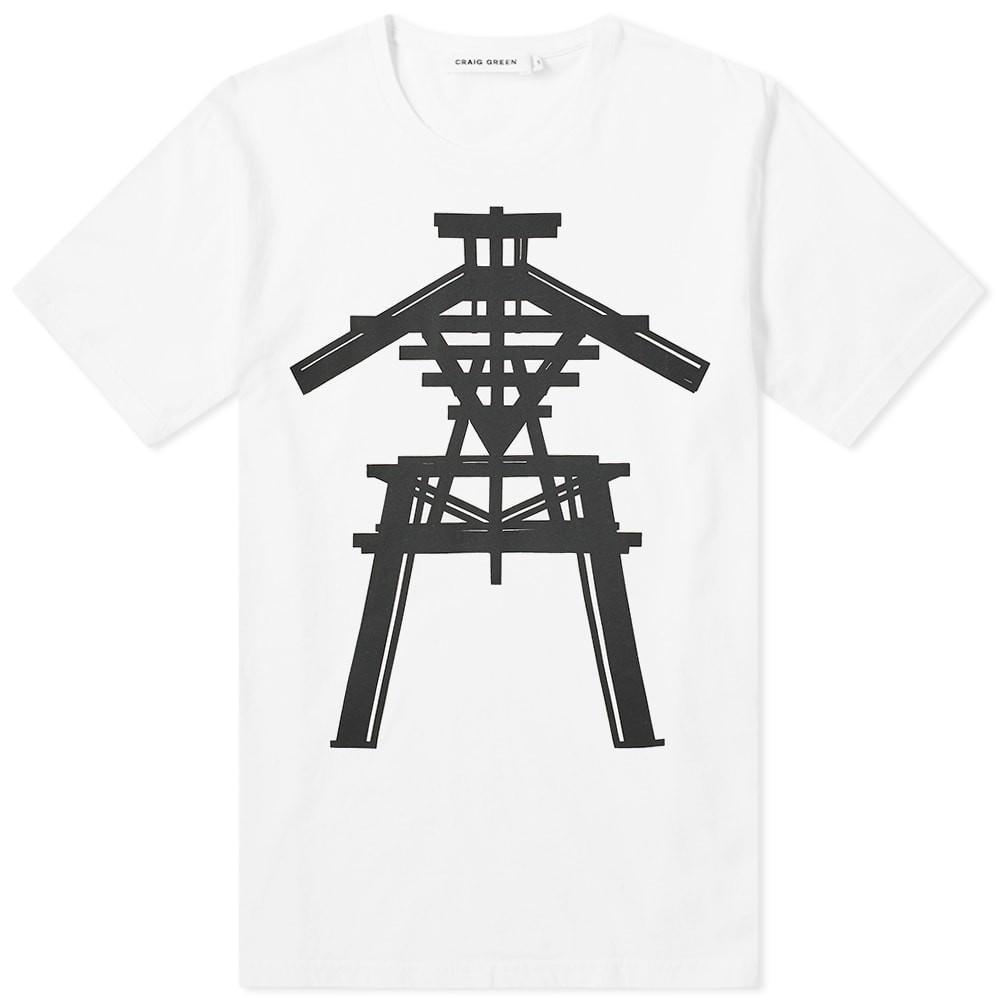 CRAIG GREEN Tシャツ メンズファッション トップス カットソー メンズ 【 Sculpture 1 Tee 】 White