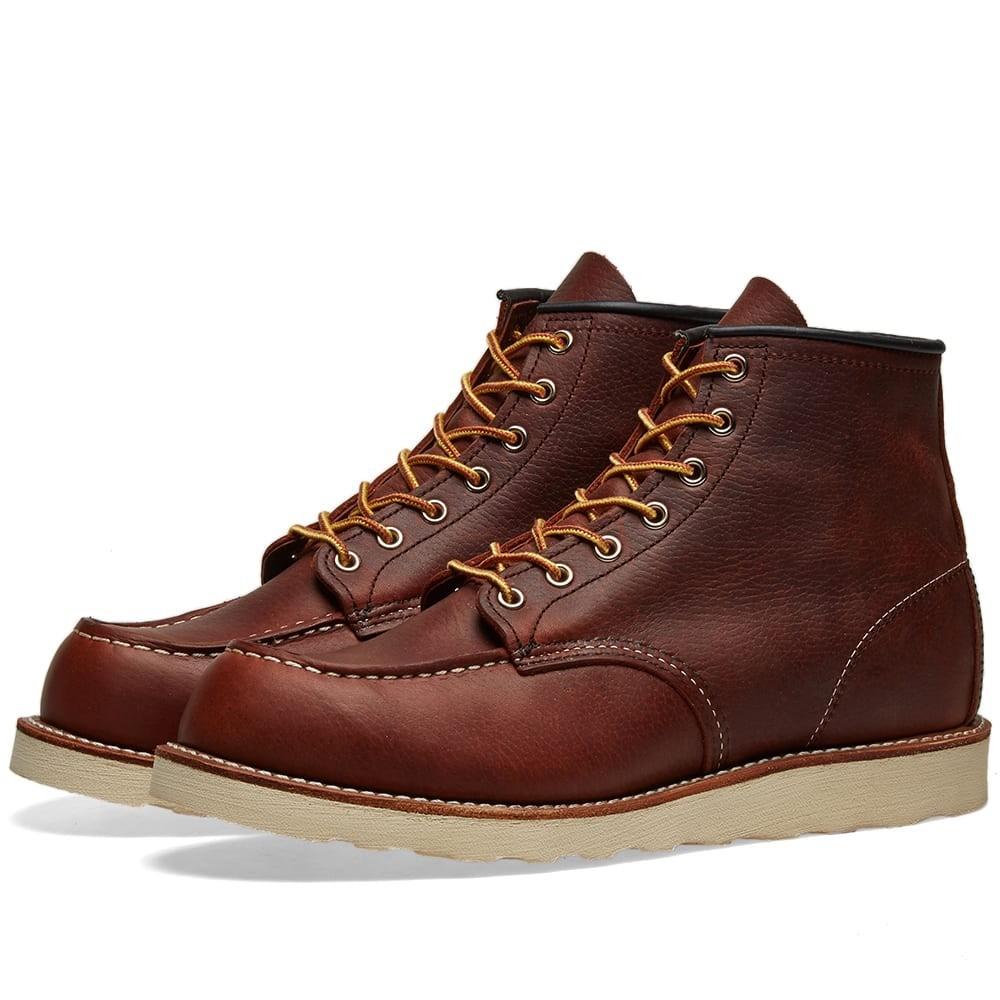"RED WING ブーツ 6"" メンズ 【 8138 Heritage Work 6"" Moc Toe Boot 】 Briar Oil Slick"