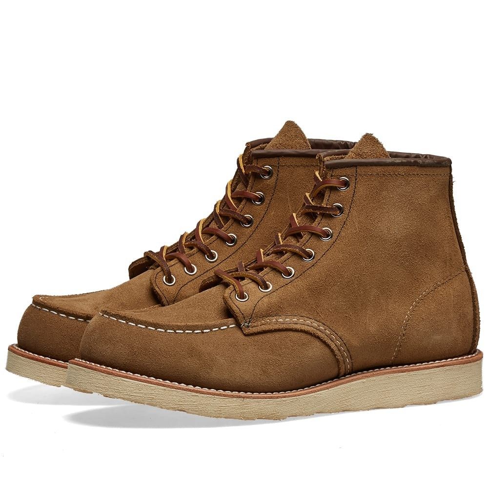 "RED WING ブーツ 6"" メンズ 【 8881 Heritage Work 6"" Moc Toe Boot 】 Olive Mohave"