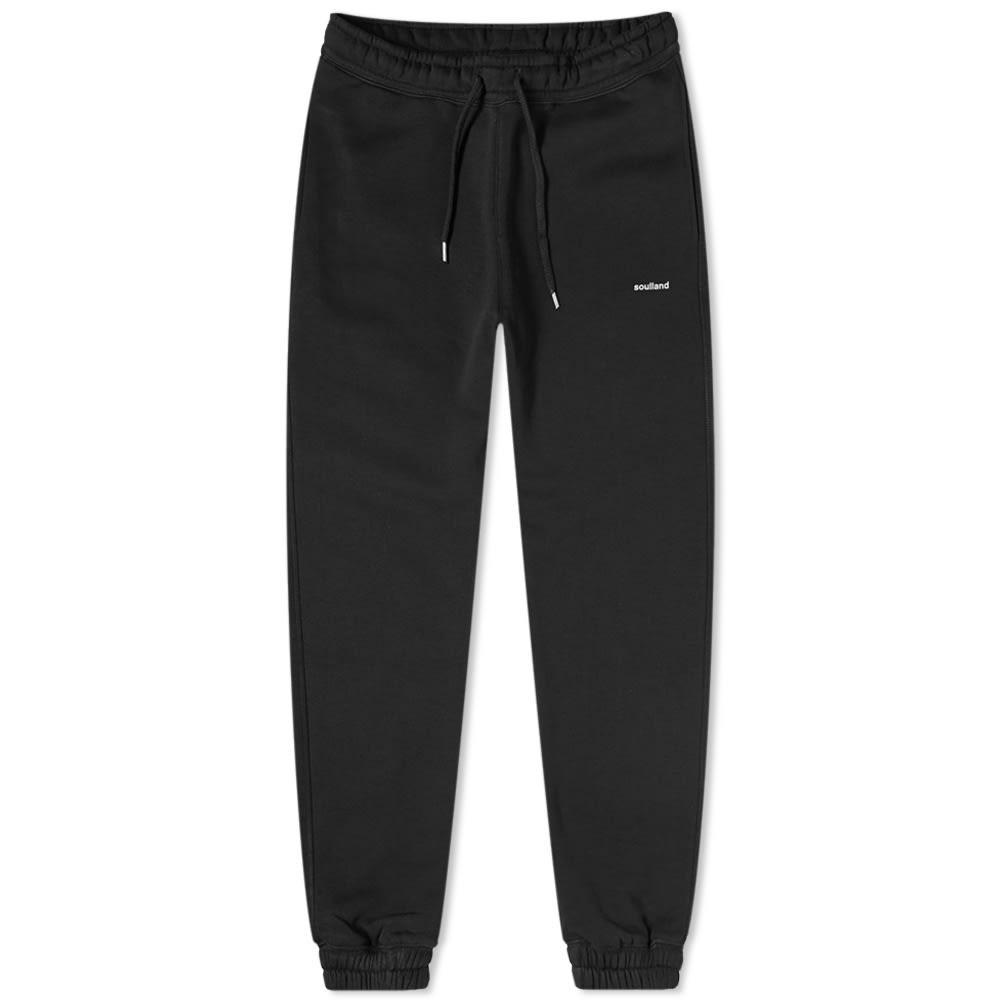 SOULLAND スウェット パンツ 黒 ブラック 【 SWEAT BLACK SOULLAND LOGIC ELIJAH PANT 】 メンズファッション ズボン パンツ
