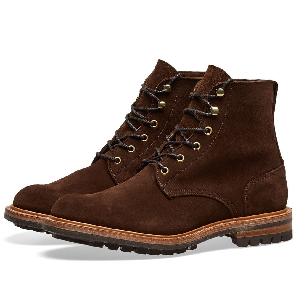【NeaYearSALE1/1-1/5】TRICKERS END. TRICKER'S 【 X LOW LEG LOGGER BOOT CHOCOLATE REPELLO SUEDE 】 メンズ ブーツ 送料無料