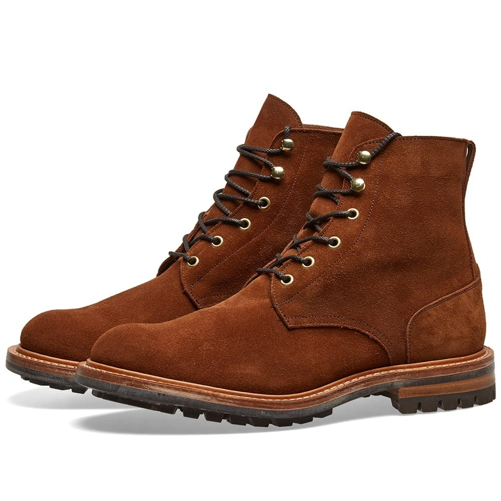 TRICKERS ブーツ End. メンズ 【 End. X Trickers Low Leg Logger Boot 】 Snuff Repello Suede