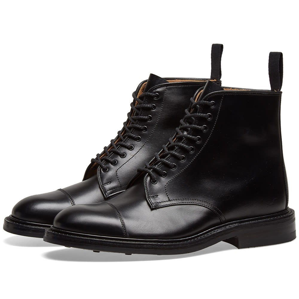 TRICKERS キャップ 帽子 ブーツ End. メンズ 【 End. X Trickers Toe Cap Boot 】 Black Calf Leather