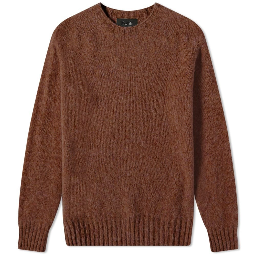 HOWLIN BY MORRISON クール HOWLIN' 【 BIRTH OF THE COOL CREW KNIT BROWNISH 】 メンズファッション トップス ニット セーター 送料無料