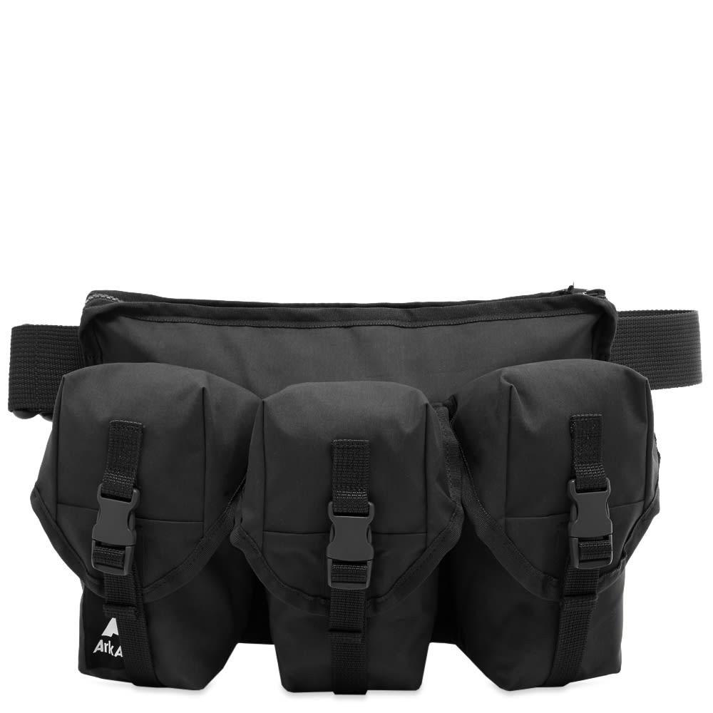ファッションブランド カジュアル ファッション バッグ ARK AIR エアー バッグ END. 【 3 POCKET WAIST BAG EXCLUSIVE BLACK 】 送料無料