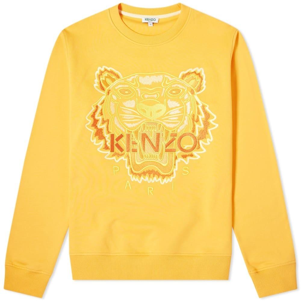 KENZO スウェット メンズファッション トップス トレーナー メンズ 【 Tonal Tiger Crew Sweat 】 Marigold