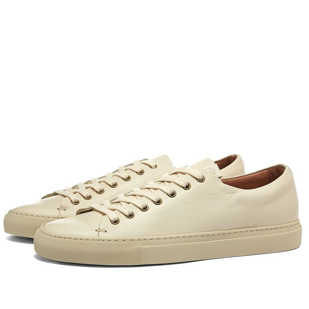 BUTTERO スニーカー 【 LINED TANINO LOW SNEAKER WHITE 】 メンズ 送料無料