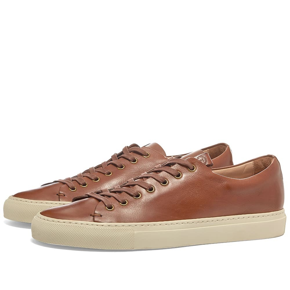 BUTTERO スニーカー 【 LINED TANINO LOW SNEAKER CUOIO 】 メンズ 送料無料