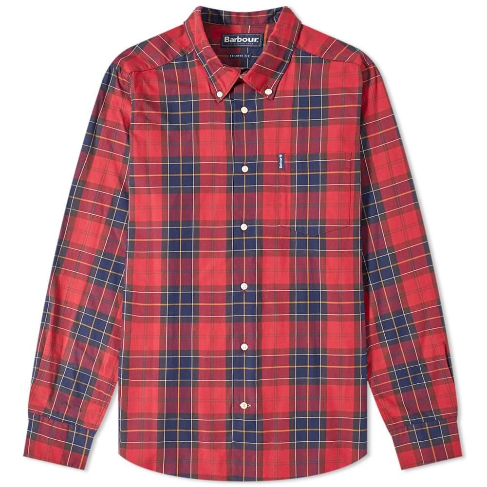 バブアー BARBOUR 【 WETHERAM SHIRT RED 】 メンズファッション トップス カジュアルシャツ 送料無料